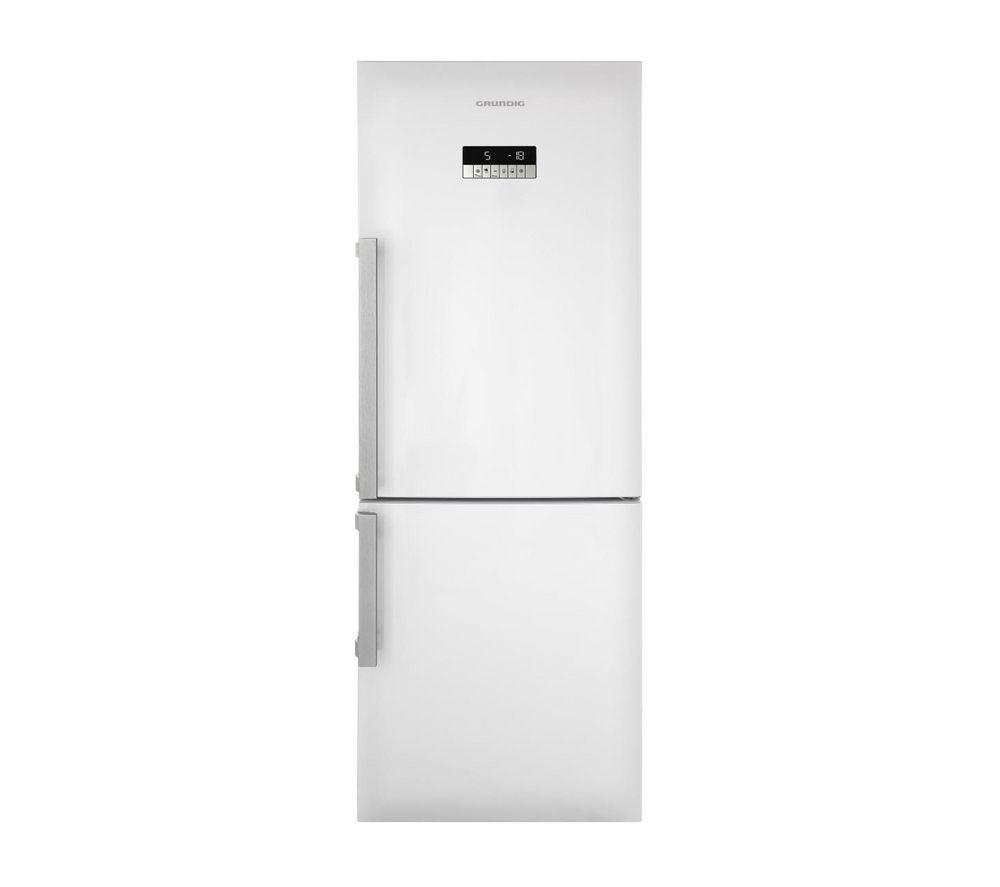 Image of GRUNDIG GKN16820W Fridge Freezer - White, White