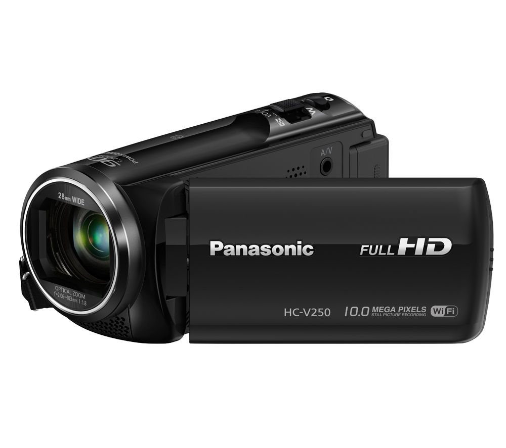 PANASONIC HC-V250EB-K Full HD Camcorder - Black